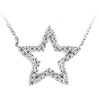 CZ Star Necklace (SLV-PCZ089)