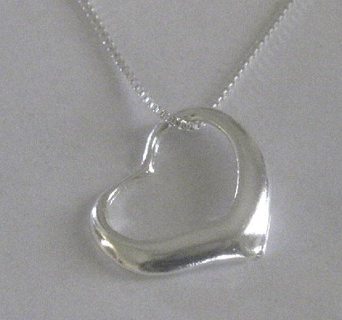 Small Open Heart Necklace (925-3-47-94)