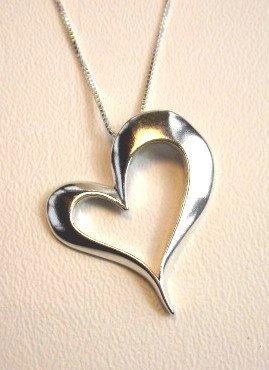 Large Open Heart Pendant (1991-PSCH)