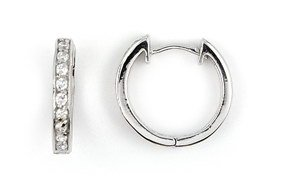 Small CZ Hoop Earrings (SECZ418)