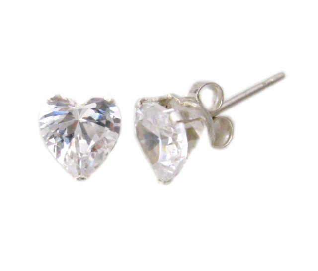 7mm Heart Shaped Earrings (SJD-20)