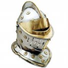 Golden Knight Full Size Medieval Middle Ages Helmet