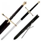 "Braveheart 40"" Sword with Leather Sheath Collectible"