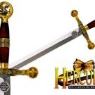 "Hercules 37"" Gold Sword by Marto of Toledo Spain with COA - Officially Licensed"