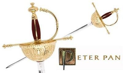 "Peter Pan Captain Hook 46"" Rapier Sword by Marto of Spain Officially Licensed"
