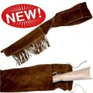 Old West-Style Suede Cowboy Rifle Scabbard Collectible EMPTY