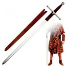 """Braveheart Sir William Wallace 51"""" Sword with Sheath Collectible - Brown Handle"""