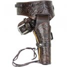 Antiqued Brown Leather Western Holster (M-L-XL)