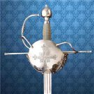 "1590s French Musketeer Rapier 47"" Sword with Scabbard Renaissance Collectible"