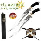 "Lord of the Rings/ Hobbit Elf Warrior Swords 18""  Swords w/ Plaque Collectible"