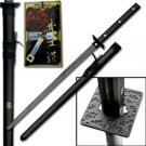"Ninja All Black Full Tang 41"" Sword with Scabbard Collectible"