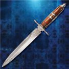 "Camelot Damascus High Quality 15"" Dagger with Sheath King Arthur Collectible"