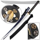 "Triple Hollyhock Shogun Traditional Japanese Katana 41"" Sword with Scabbard"