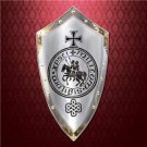 "Knights Templar 38"" x 20"" Steel Shield Marto of Spain Collectible"