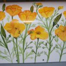 Personalized Handpainted Hand Painted Mailbox CALIFORNIA POPPY- UV  Resistant