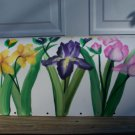 Handpainted Hand Painted Mailbox  IRISES,tulips and daffodils- UV  Resistant