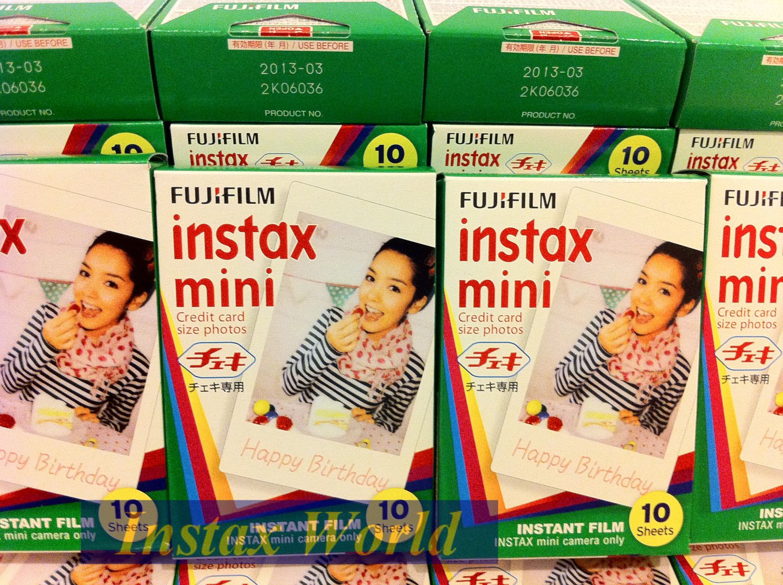 ON SALE--10packs Instax Mini Film (White)