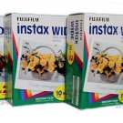 10packs Instax Wide Film (Total 100 films) Worldwide Shipping