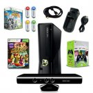 XBOX 360 Slim 4GB Scene It Holiday Bundle with 6 Games, Extra Controller, and More