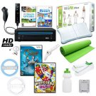 Nintendo Wii Black Mega Bundle with Wii Fit Plus and Much More