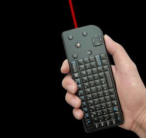 2.4G Wireless Mini Keyboard With Trackball and Laser pointer
