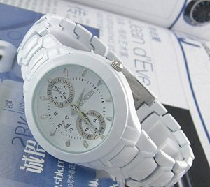 couple watches,white/black color watch with two watch boxes