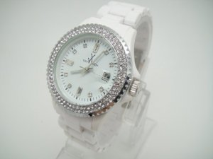 New Coming Crystal Plasteramic Watch Collection 100% Warranty Quality Plastic Watch