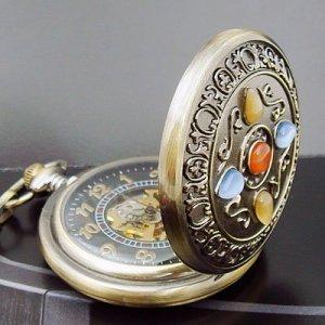 Artificial Jewelry Antique Pocket Watch Mechanizal New
