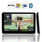4GB Slim 5 inch car GPS navigation with Bluetooth FM AV IN