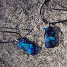 Dichroic Glass Blue Pendant