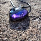 Purple Dichroic Glass Heart