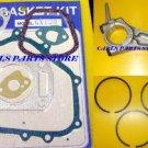 HONDA GX120 PISTON RINGS, CONROD & GASKET SET