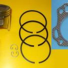 HONDA GX160  PISTON, GUDGEON PIN & RINGS SET AND CYLINDER HEAD GASKET