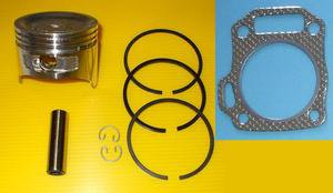 HONDA GX160  PISTON, GUDGEON PIN & RINGS SET AND CYLINDER HEAD GASKET