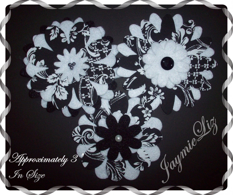 Handmade Fabric And Felt Flowers