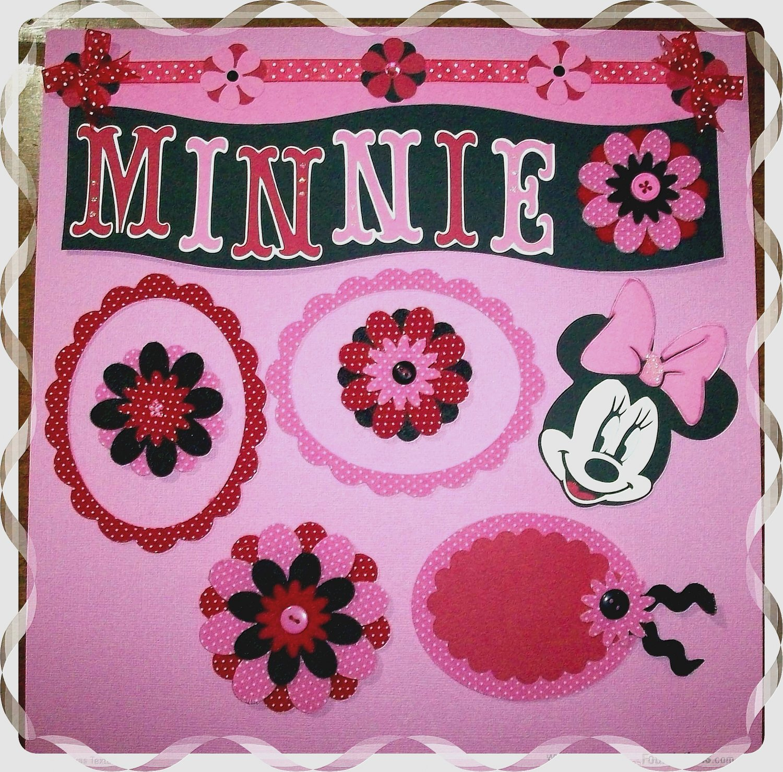 Handmade Scrapbooking Embellishments Minnie Mouse Theme