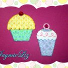Handmade Scrapbooking Embellishments Fabric Cupcakes FREE SHIPPING