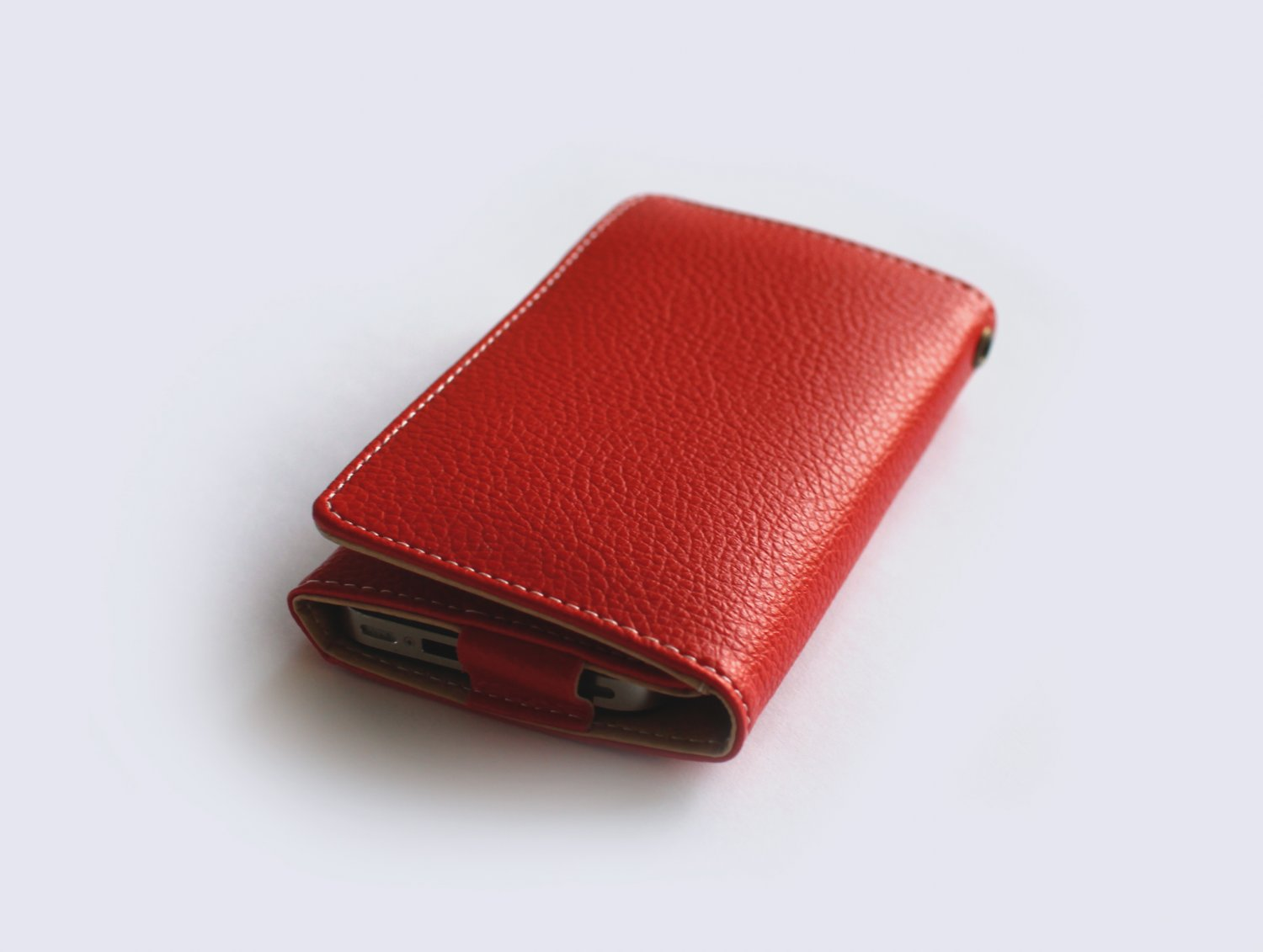 iPhone Leather Wallet - Red