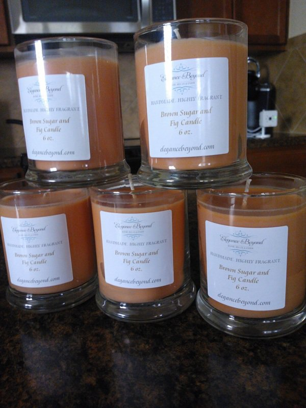 Brown Sugar and Fig Candle, 6 oz.