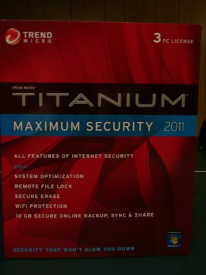 Trend Micro� Titanium Maximum Security 2011, 3 Users + free upgrade to 2013