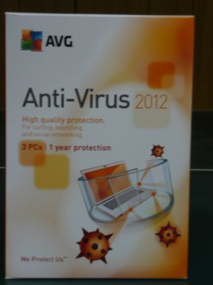 AVG Anti-Virus & Anti-Spyware 2012 Version 11.0, 3 Users