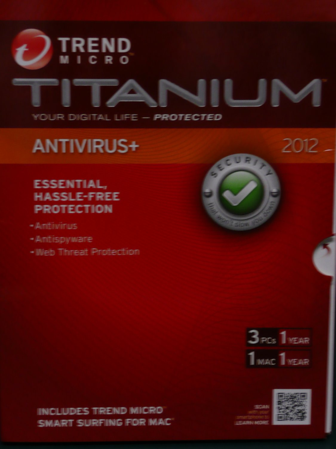 Trend Micro� Titanium Antivirus Plus + 2012, 3 Users + free 2013 upgrade
