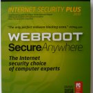 Webroot ® SecureAnywhere Internet Security Plus 2013, 3 Users