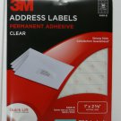 Lot of 2 - 3M Address Labels, Clear Laser, 750/pk 1 x 2 5/8, 3400-B, similar to Avery 5630