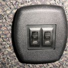 RV Black Double 12 Volt On / Off Switch With Matte Plate #DS12VOOS