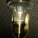 Optronics Antique Brass 12 Volt Wall Light W/ Gustafuson 9015 Globe #DC11BR01