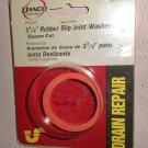 """Danco Drain Repair 1 1/4"""" Rubber Slip Joint Washers Square Cut #80791"""