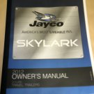 Jayco Skylark Travel Trailer 2012 Owner's Manual #0205996