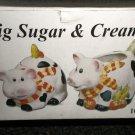 DSI Ceramic Pig Sugar & Creamer Set #10145
