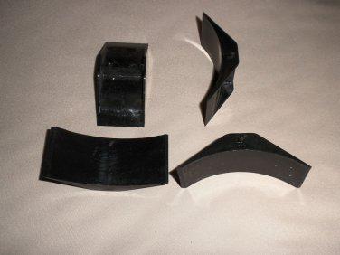 B & B Molders Small Black Radius Window Corner Blocks  Set 4  #121-B